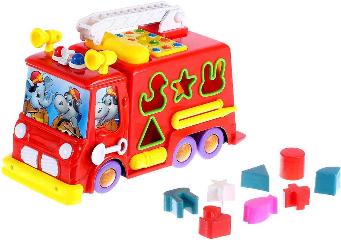 Музыкальная игрушка Zabiaka Пожарная машина, 3601997 в благов пожарная машина книжка игрушка