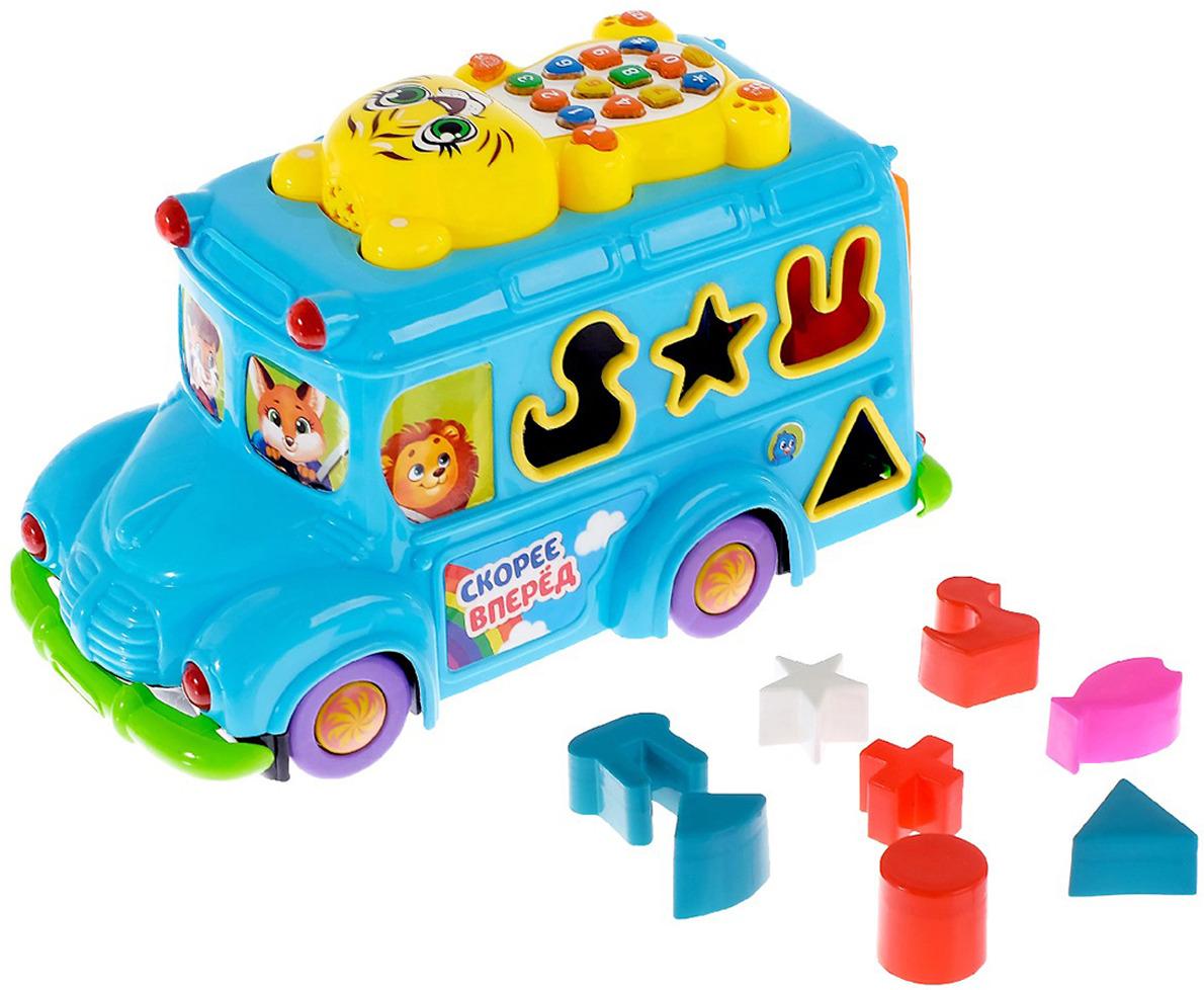 Музыкальная игрушка Zabiaka Автобус, 3601998 автобус наша игрушка автобус продавца голубой w034