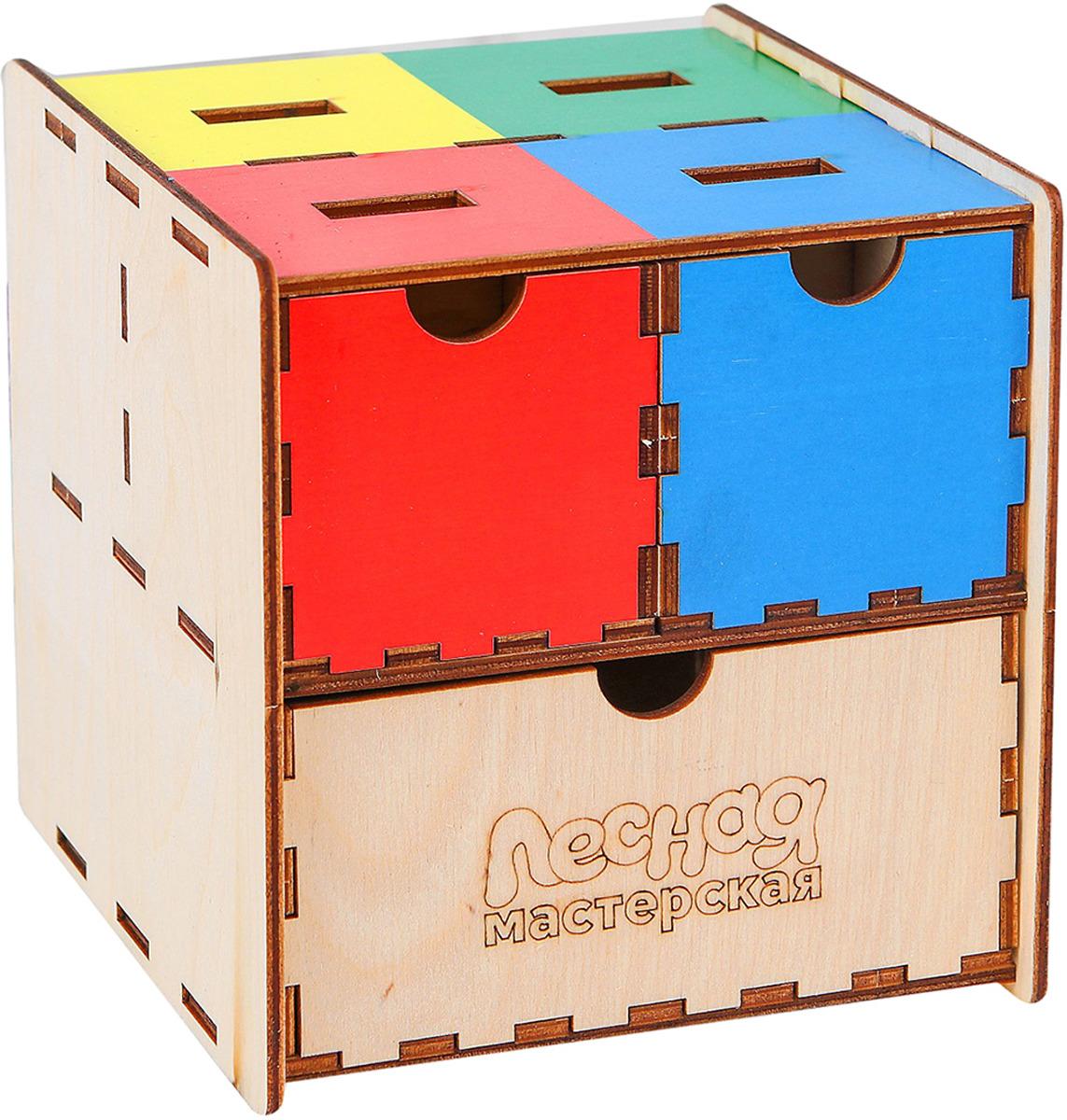 Сортер Лесная мастерская Умный куб, 3740007 сортер польская игрушка лесная школа