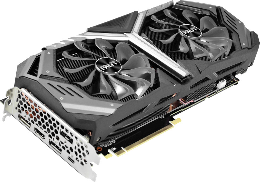 Видеокарта Palit GeForce RTX 2070 GameRock Premium 8GB, NE62070H20P2-1061G видеокарта palit pa gtx1060 dual 3g