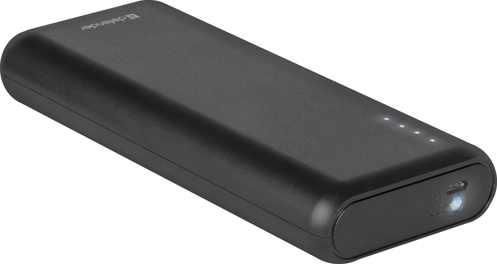 Внешний аккумулятор Defender Lavita, 83617, 10000 mAh, черный цена и фото