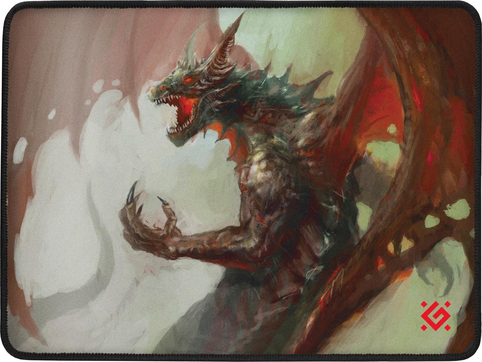 Игровой коврик для мыши Defender Dragon Rage, 50558, черный