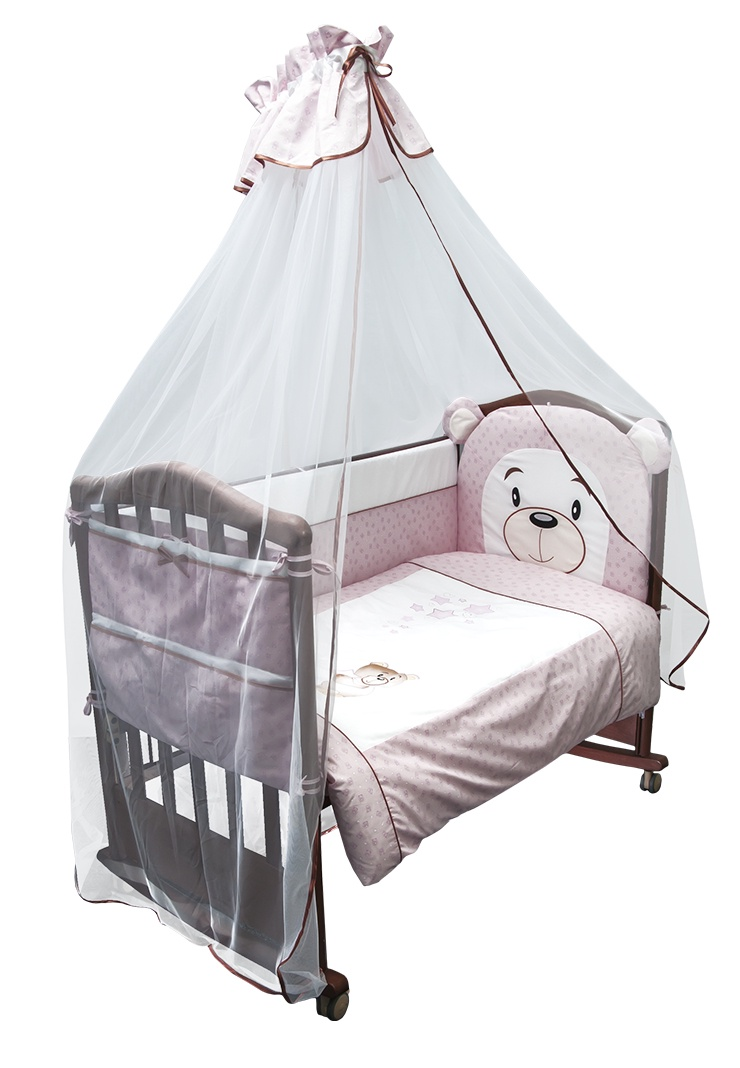 Комплект белья для новорожденных Сонный гномик Умка, розовый