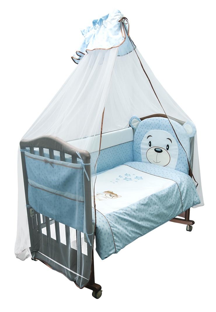 Комплект белья для новорожденных Сонный гномик Умка, голубой