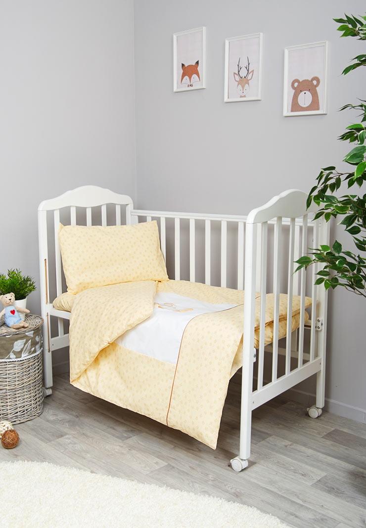 Комплект белья для новорожденных Сонный гномик Умка, бежевый