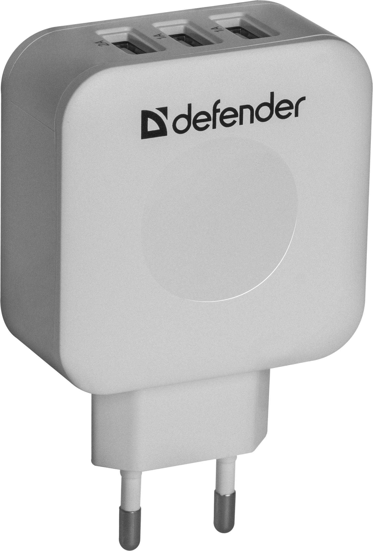 Сетевой адаптер Defender UPA-30 3 порта USB, 5V / 4A, 83535 сетевой адаптер питания lp с usb выходом