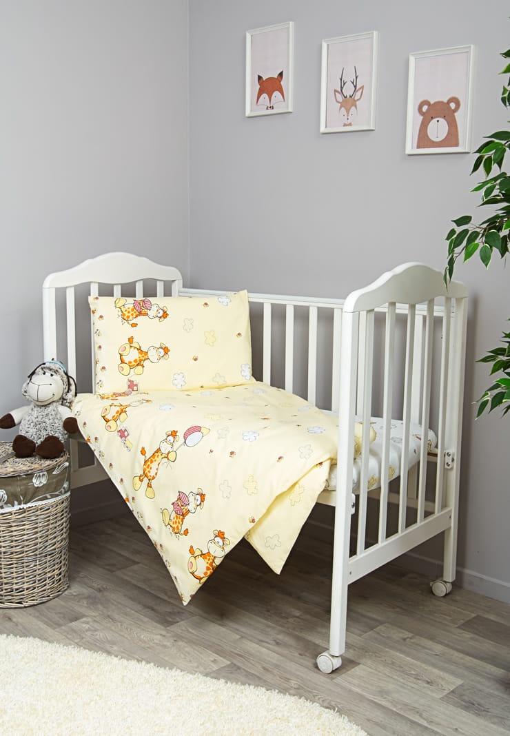 Фото - Комплект белья для новорожденных Сонный гномик Жирафик, бежевый, белый комплект белья для новорожденных сонный гномик жирафик бежевый белый