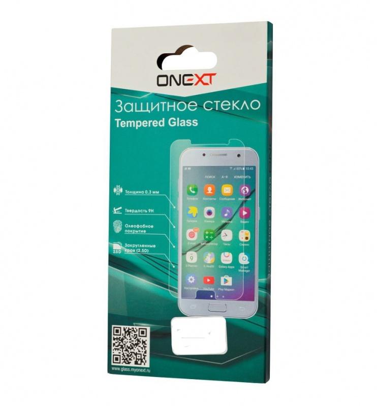 Защитное стекло Onext для Nokia 8, 641-41437, c рамкой, черный