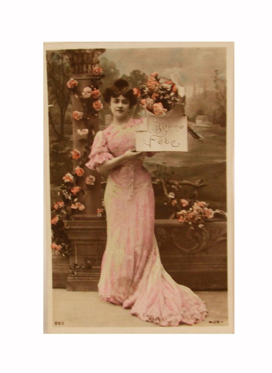 Коллекционная открытка почтовая открытка колоризированное изображение франция начало xx века