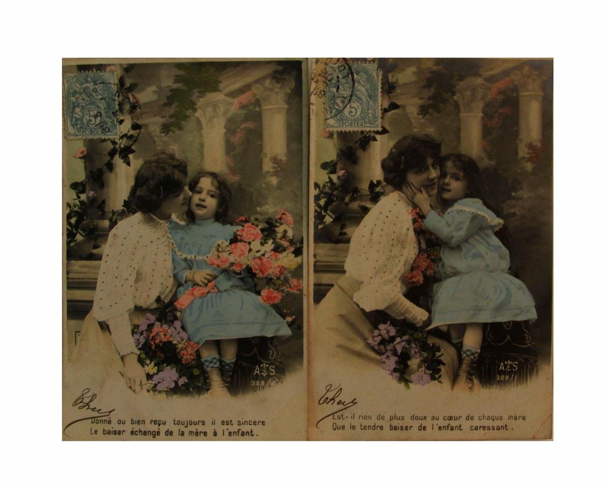 Магазин купит старинные открытки, мордочками животных