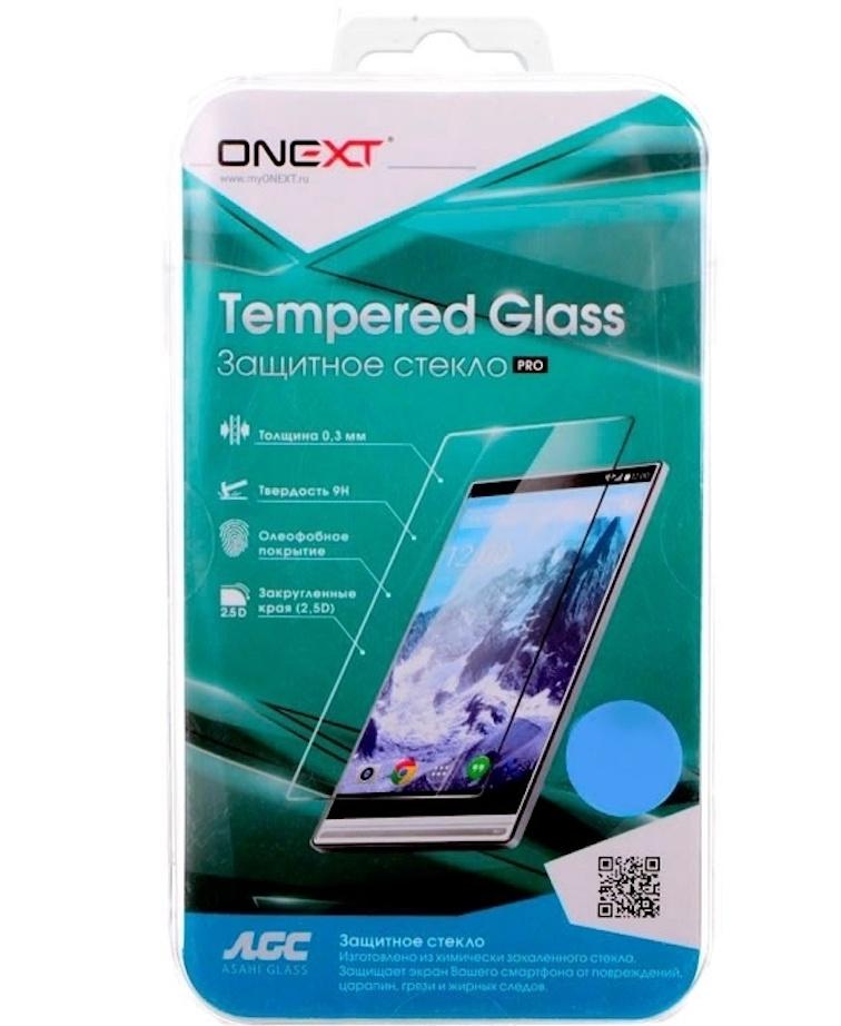 Защитное стекло Onext для Nokia 6, 641-41436, с рамкой, белый цена и фото
