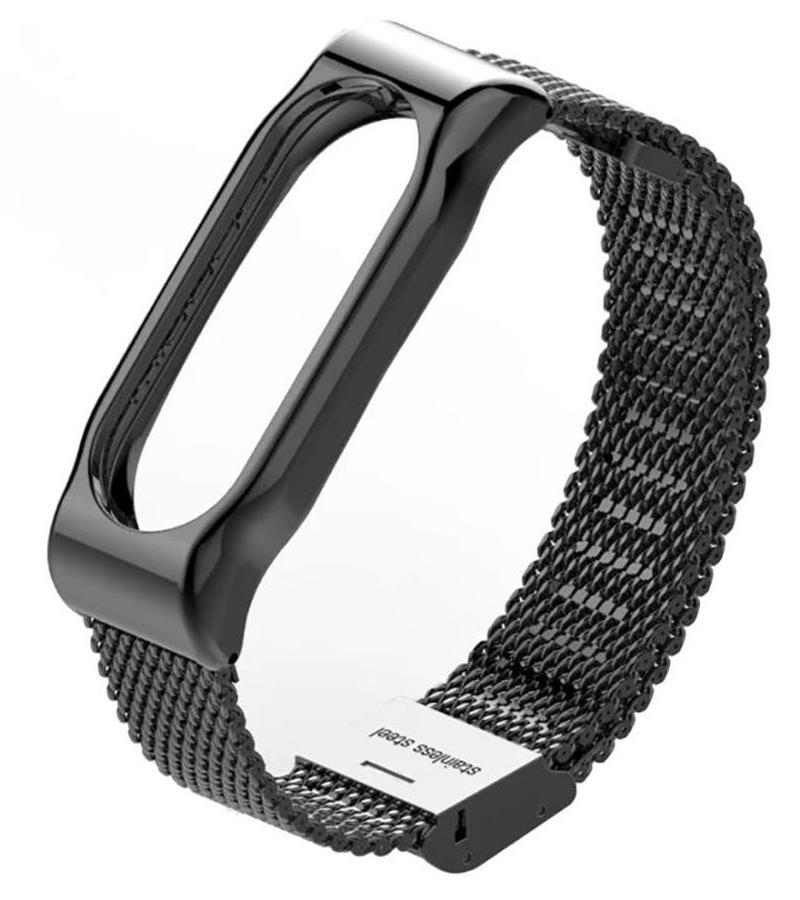 Ремешок для смарт-часов Roxmi Ремешок металлический для фитнес трекера Xiaomi Mi Band 3 черный, черный цена и фото