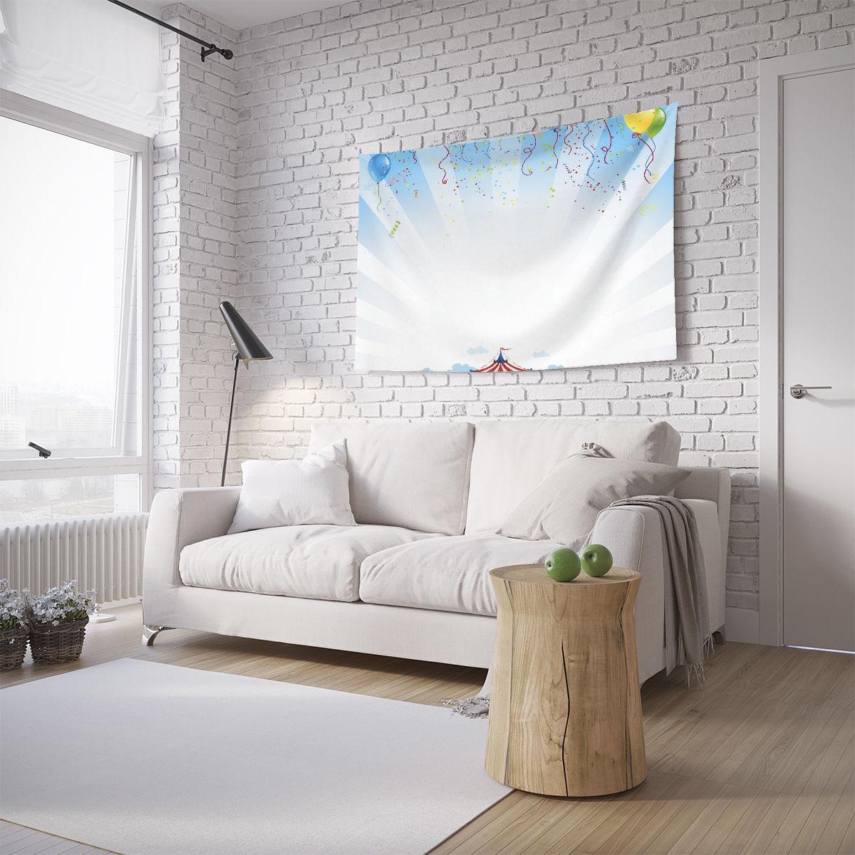 Панно с фотопринтом на стену JoyArty Шары над цирком, tpg_12774, 100x150 см