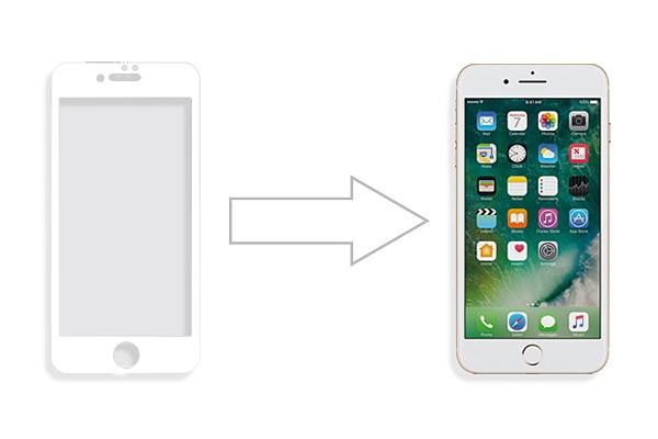 Защитное стекло Ainy для Apple iPhone 7 на полный экран, анти-шпион, AF-A610B, белый защитное стекло ainy af af a1414a