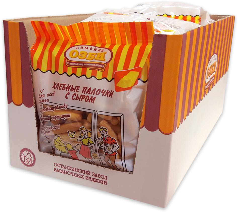Хлебные палочки Семейка ОЗБИ с сыром, 1.5 кг