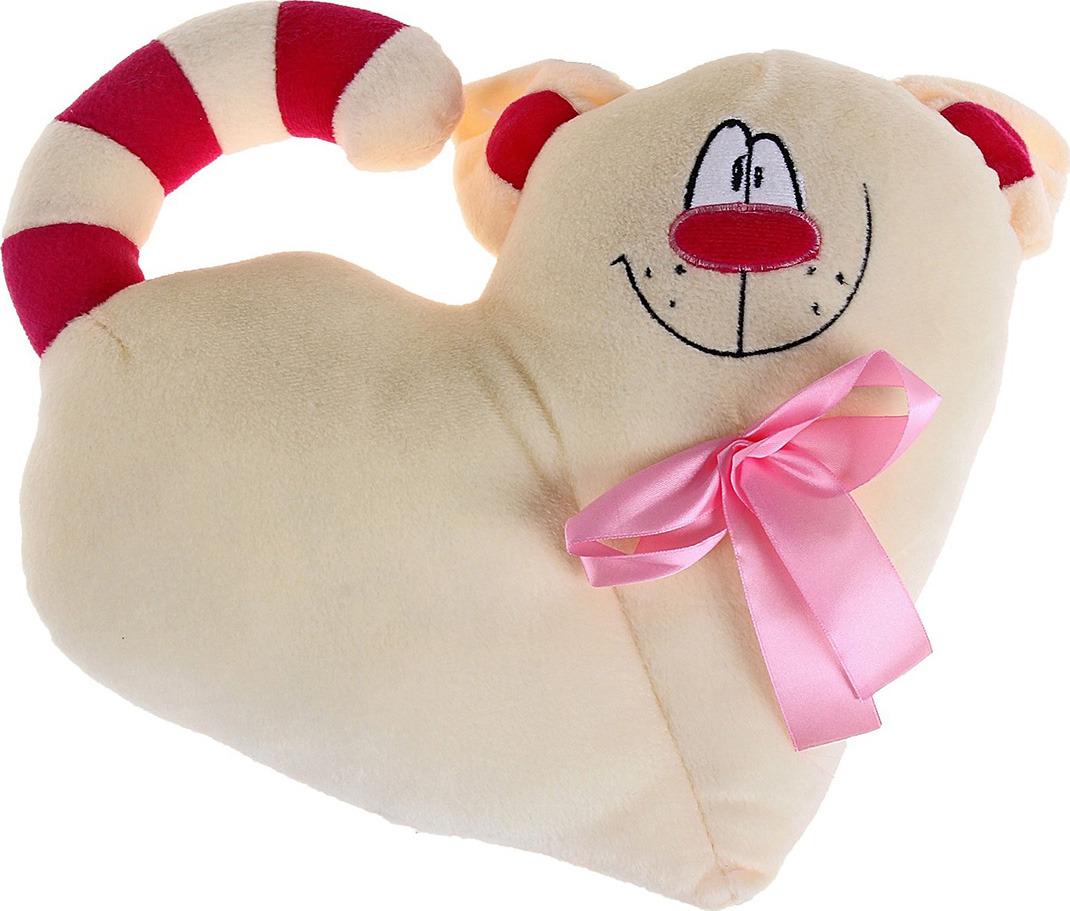 """Мягкая игрушка-подушка 888 """"Сердечко - Котик"""", 771480, 30 см"""