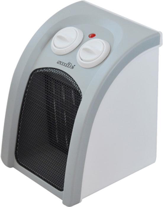 Тепловентилятор Smile HFC1187, светло-серыйHFC1187Тепловентилятор имеет керамический нагревательный элемент, термостат, 2 режима нагрева (750Вт/1500Вт), холодный обдув (вентилятор), автоматическое поддержание заданной температуры, индикатор работы прибора, эргономичная ручка для перемещения, защита от перегрева