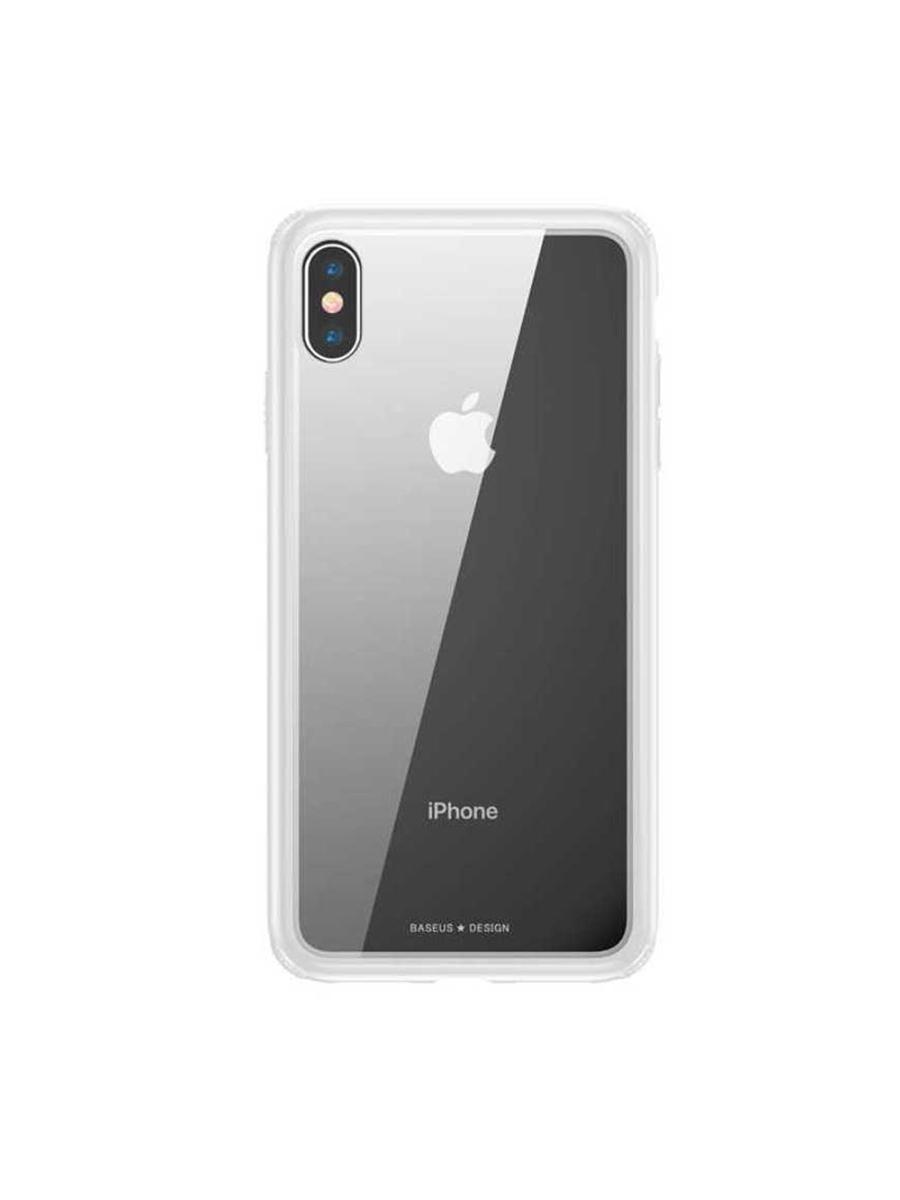 Чехол-накладка Apple iPhone XS Max Baseus See-through Glass White, 572568 white see through crochet lace details spaghetti bra