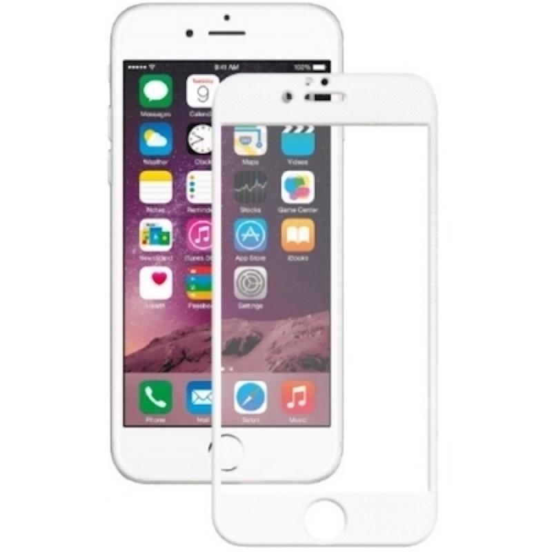 Защитное стекло Onext для Apple iPhone 7, 641-41215, с рамкой, белый защитное стекло onext для huawei p10 lite 641 41432 с рамкой белый
