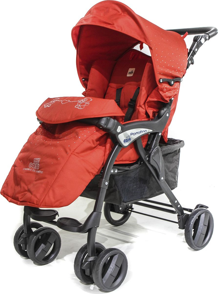 Коляска прогулочная Cam Portofino, 822/404, красный прогулочная коляска cam fluido allegria