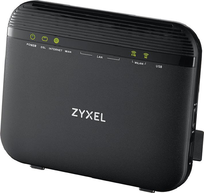 Маршрутизатор Zyxel VMG3625-T20A, VMG3625-T20A-EU01V1F, черный беспроводной adsl маршрутизатор zyxel vmg3312 t20a 802 11n 300мбит с 2 4ггц 4xgblan 1xusb2 0 поддержка 3g 4g модемов