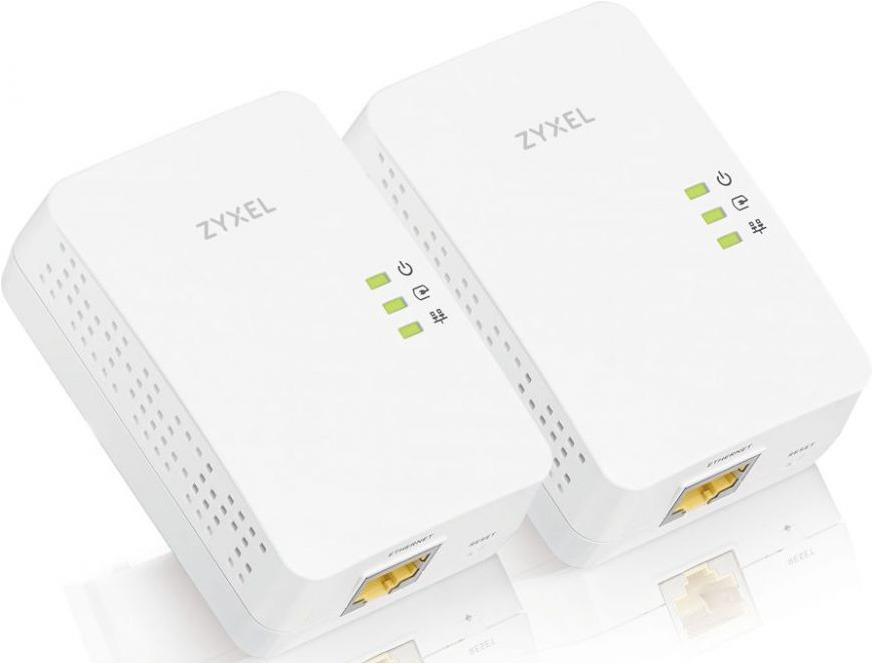 Сетевой AV адаптер Zyxel HomePlug PLA5405V2, PLA5405V2-EU0201F, 2 шт