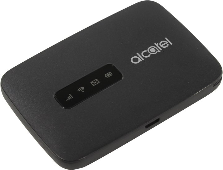 USB-модем Alcatel Link Zone + роутер, MW40V-2AALRU1, черный модем xdsl d link dsl 1510g rj 45 vpn firewall router внешний черный