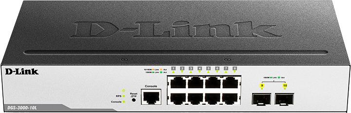 Коммутатор D-Link, управляемый, DGS-3000-10L/B1A