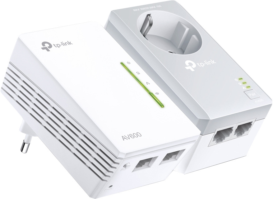 Сетевой AV/Wi-Fi адаптер TP-Link HomePlug, TL-WPA4226KIT, 2 шт сетевой av адаптер tp link homeplug tl pa7010pkit