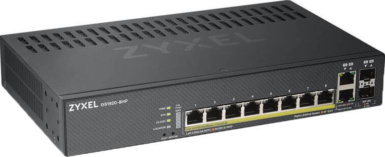 Коммутатор Zyxel NebulaFlex, управляемый, GS1920-8HPV2-EU0101F zyxel gs1920 24