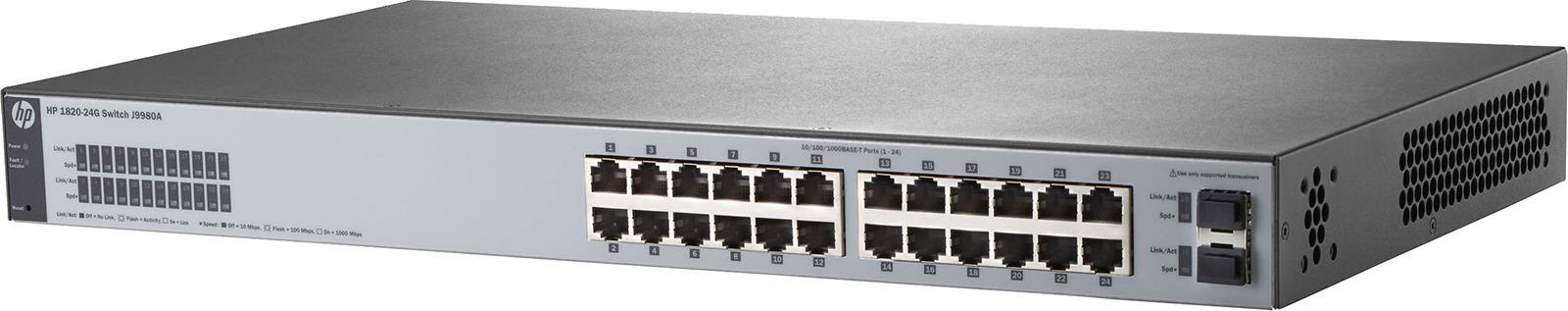 Коммутатор HPE 1820-24G, управляемый, J9980A коммутатор hpe 1820 24g poe управляемый j9983a