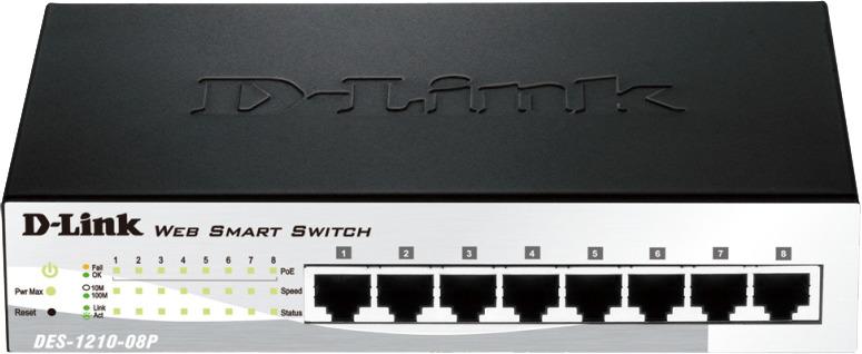 купить Коммутатор D-Link, настраиваемый, DES-1210-08P/C2A онлайн
