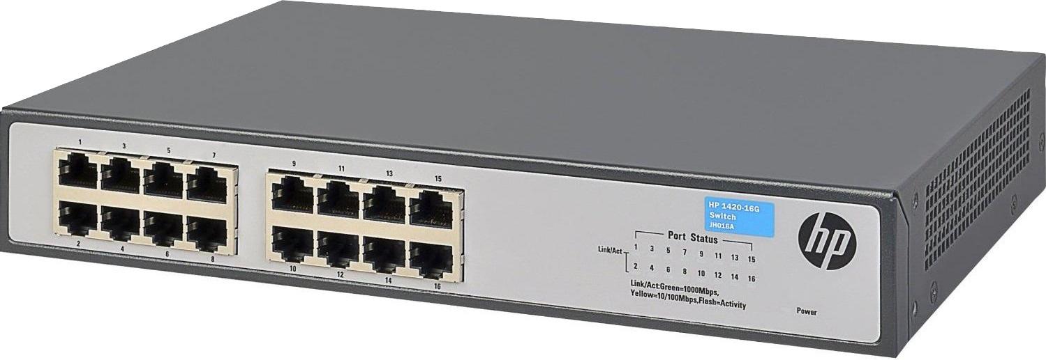 Коммутатор HPE 1420-16G, неуправляемый, JH016A