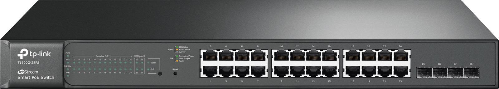 Коммутатор TP-Link T1600G-28PS, управляемый
