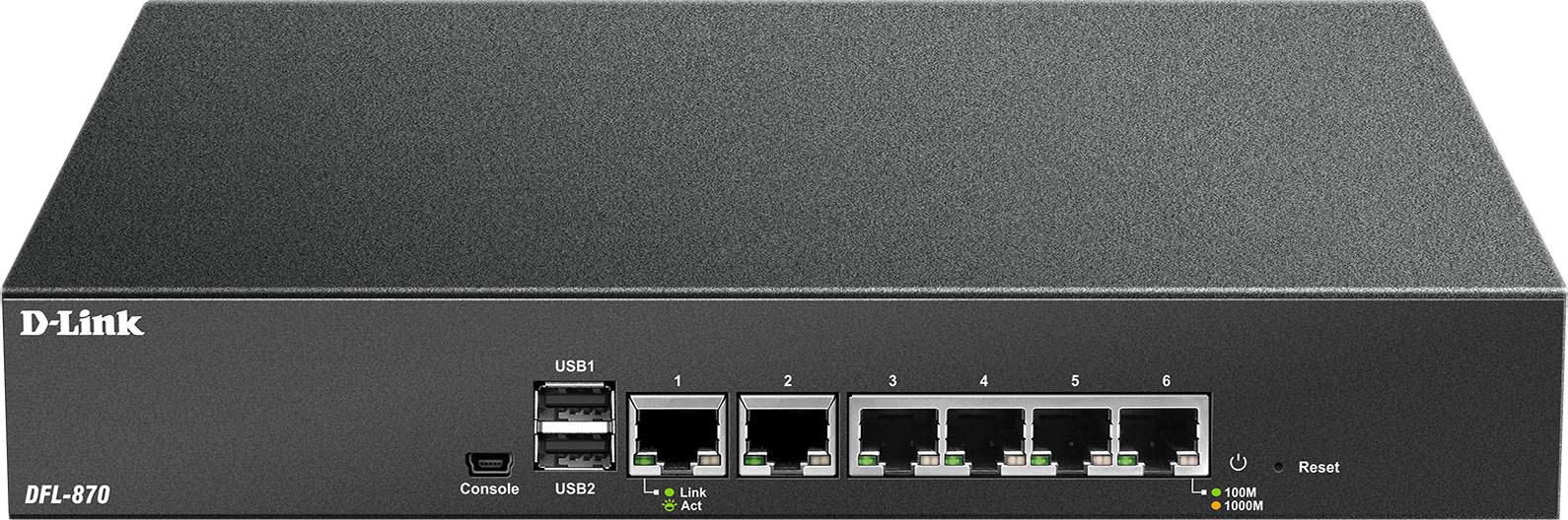 Сетевой экран D-Link DFL-870, DFL-870/A1A, черный межсетевой экран d link dsr 150n