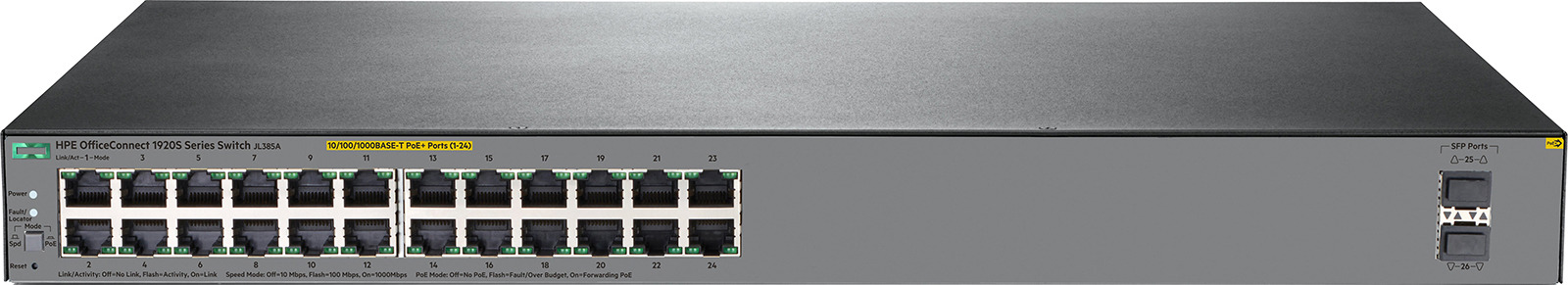 Коммутатор HPE OfficeConnect 1920S, управляемый, JL385A коммутатор hp 1920s switch jl385a