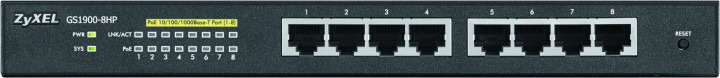 Коммутатор Zyxel GS1900-8HP, управляемый, GS1900-8HP-EU0102F Zyxel