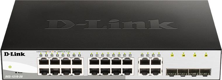 Коммутатор D-Link DGS-1210-20, настраиваемый, DGS-1210-20/F1A