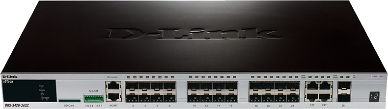 Коммутатор D-Link DGS-3420-26SC, управляемый, DGS-3420-26SC/B1A цена и фото