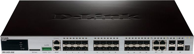 Коммутатор D-Link, управляемый, DGS-3420-28SC/B1A цена и фото