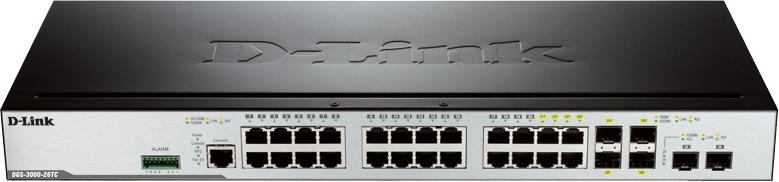 Коммутатор D-Link, управляемый, DGS-3000-26TC