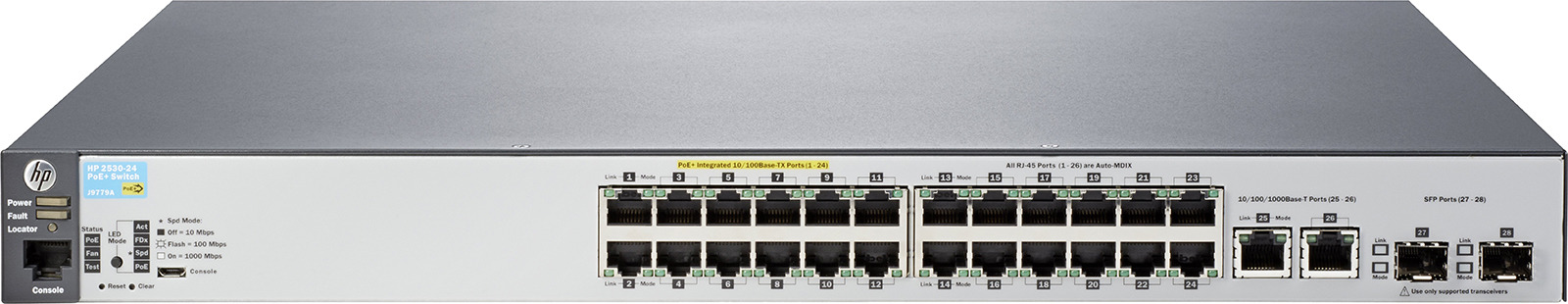 Коммутатор HPE 2530, управляемый, J9779A коммутатор hpe 1820 24g poe управляемый j9983a