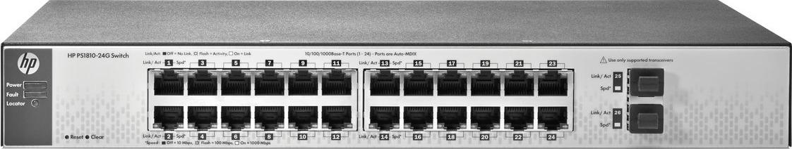 Коммутатор HPE PS1810-24G, настраиваемый, J9834A цены