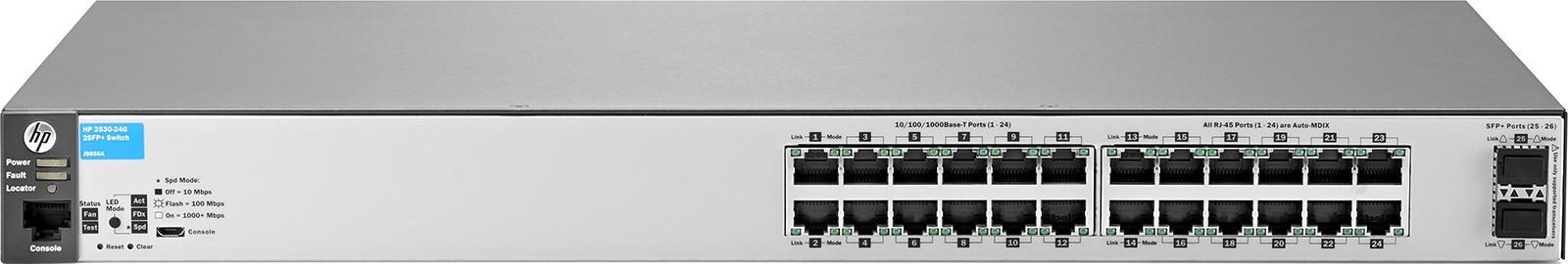 Коммутатор HPE 2530-24G-2SFP+, управляемый, J9856A коммутатор hpe 1820 24g poe управляемый j9983a