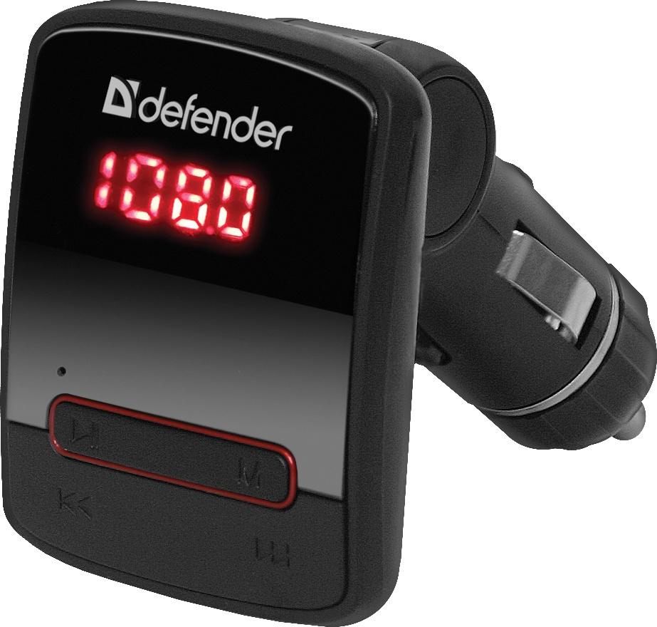 FM-трансмиттер Defender RT-Hit Пульт ДУ 68010, черный