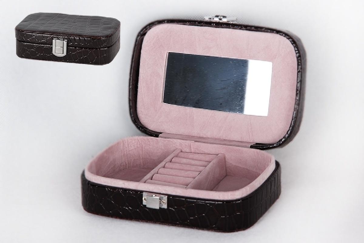 Шкатулка Коралл, 967678, черный, 15х10х5 см