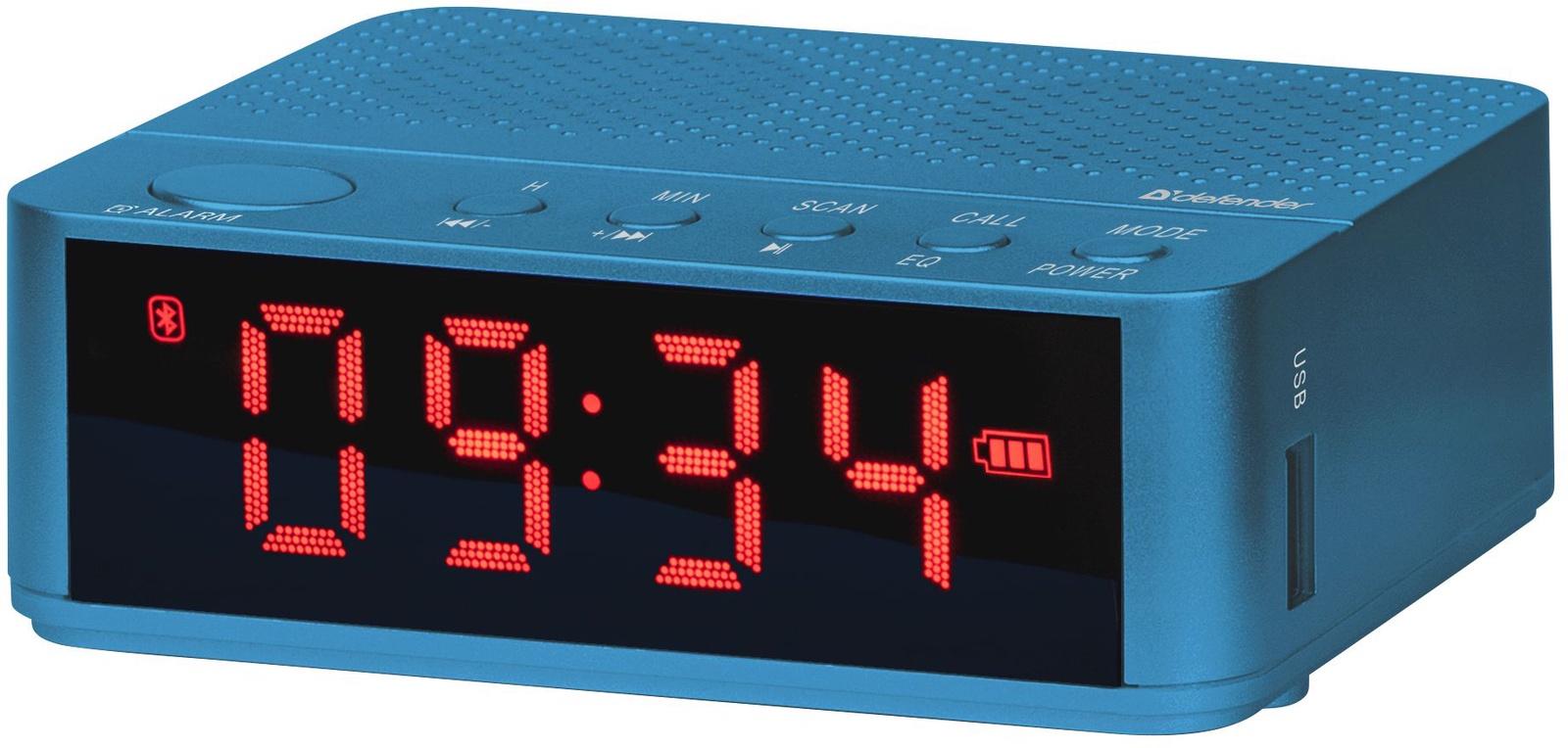 Портативная акустика Defender Enjoy M800 синий, 3Вт, BT/Alarm/FM/USB, 65685 портативная колонка defender enjoy m800 черная