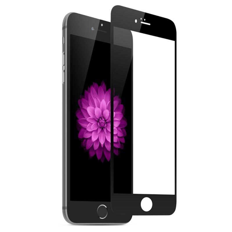 Защитное стекло Onext для Apple iPhone 6/6S, 641-40935, с рамкой, черный защитное стекло для iphone 6 plus onext с белой рамкой силиконовые края