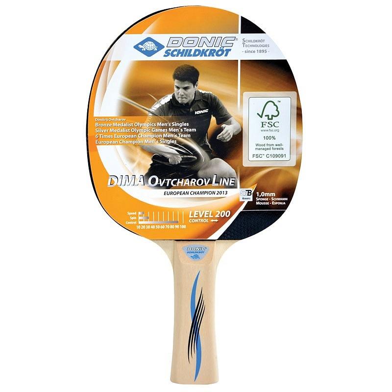 Ракетка для настольного тенниса Donic Schidkroet Ovtcharov 200 FSC 705222, черный аксессуар защитное стекло для nokia 7 plus zibelino tg full screen 0 33mm 2 5d black ztg fs nk 7pl blk