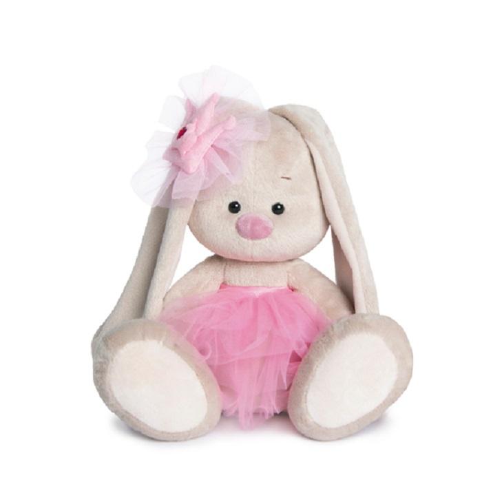 "Мягкая игрушка Basik & Ko Budi Basa ""Зайка Ми Балерина"", SidM-132, бежевый, розовый, 23 см"